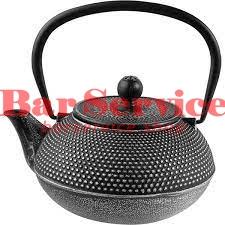 Чайник с ситечком;  чугун;  0,9л;  D=89,H=110,L=160мм;  черный в Омске