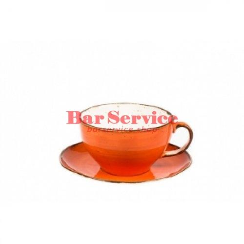 Чашка с блюдцем 375 мл Orange Sky Fusion в Омске