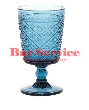 """Бокал д/вина """"Глория""""; стекло; 240мл; синий в Омске"""