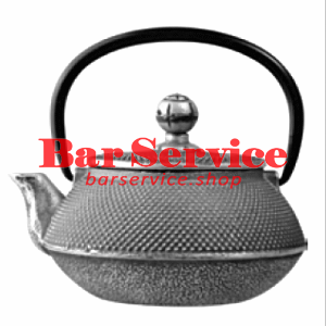 Чайник с ситечком; чугун; 650мл; D=8.7,H=9.4,L=14.5см черный в Омске
