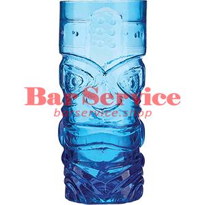 Стакан д/коктейлей, стекло «Тики» синий в Омске